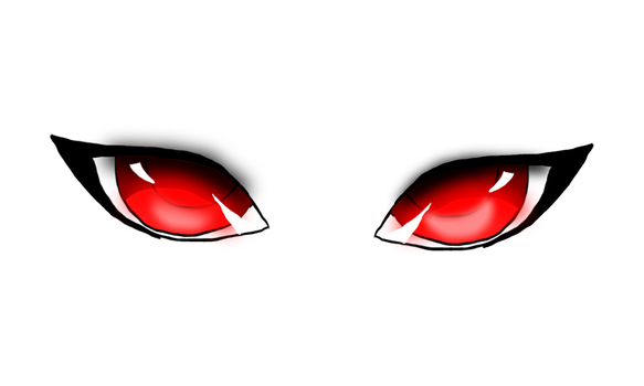 Red Anime Eye by pinkorchid123