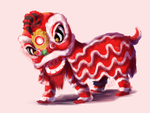 30 Day Monster Challenge - Day 8 - Lion Dance by sp00ntane0us