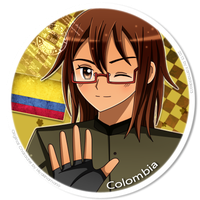 Colombia Button | Request by Kamadoka13