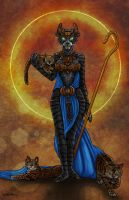Bastet Tarot Card revised by NoahBDesign
