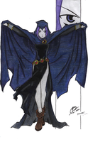 Raven Colored by moonlitshadows