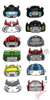 Autobot Heads by shinfua