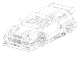 Opel Corsa B DTM sketch by ALX10