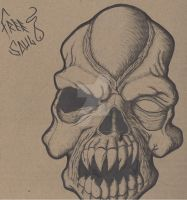 zombie skull by freesoultheartist
