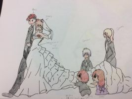 Ares and Louis wedding 2 by gryffindorseekerhp