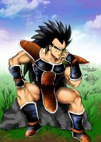 Raditz in colours by Gaaragirlshirinaj