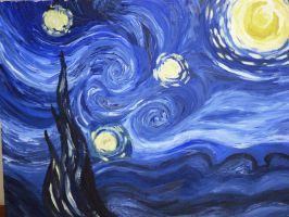 Starry Night by Vincent Van Gogh Trista style by Prithvi-Enoch