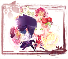 SasuSaku ::Forget-me-not:: by kivi1230