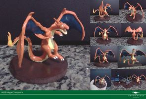 Mega Charizard Y sculpture by Vitor-Silva