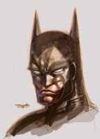 Batman another doodle by sjsegovia