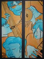 Blue and Orange Jazz Combo by dinn