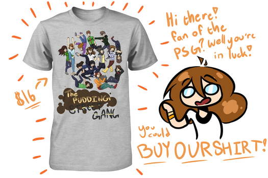 The Pudding Street Gang now has a shirt! by TheSilverPie