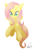 Mane Six Fluttershy by Kiwi-Heart