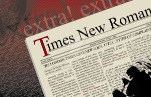 Times New Roman poster by mysticblue