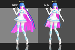 Angel Stocking - Update Comparison by kinoko-hiou