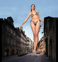 Giantess walking by potyzeff