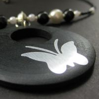 Silver Butterfly Choker by Gilliauna