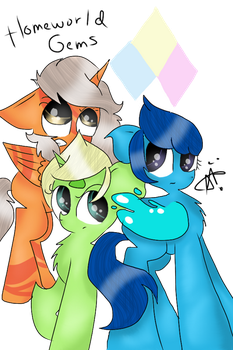 Homeworld Gems- Steven Universe Ponified by ThePegasisterPony