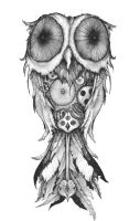 Clockwork owl by Aaron-R-Morse