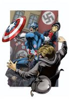 Cap Loves Punching Nazis by Kminor