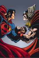 Thor Vs Superman by SpikeHDI