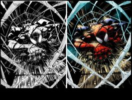 Superior Spider Man Colors-before-after by nahp75