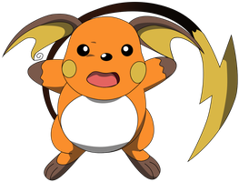 My seventh vector of Raichu. by Flutterflyraptor