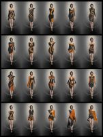 Fashion Trend - Black and Orange by TSABER