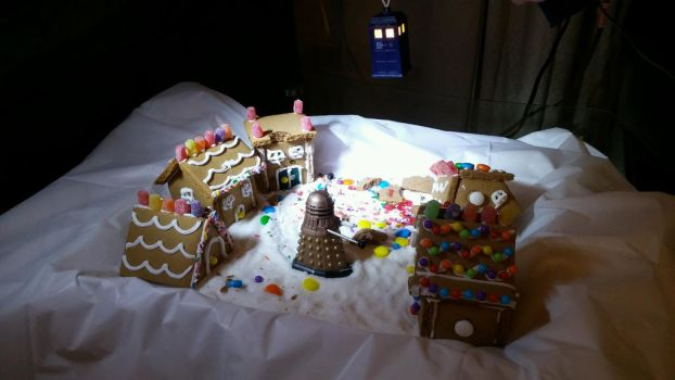 Dalek in the Gingerbread Village by cmsully