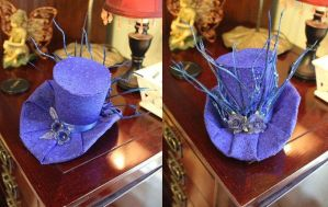 Mini Blue Top Hat by Miss-Star-Bucket
