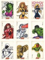 Avengers Sketch Cards A by tonyperna
