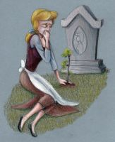 Cinderella Cries at Her Mother's Grave by SpyroShurtagul