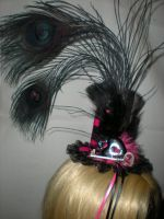 Black and Pink Handmade Top Hat by Oriana-X-Myst