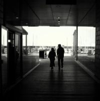 couple silhouette by lostknightkg