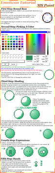 Emoticon Tutorial: MS Paint by BlissfullySarcastic
