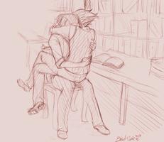 In the back of the library by BloodnSpice