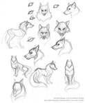 Wolf Developement Sketches by Little-Katydid