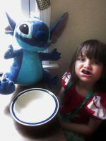 Lilo and Stitch Have a Snack by onionhead1