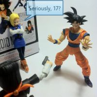 Android 17 and his gun by Dollwoman