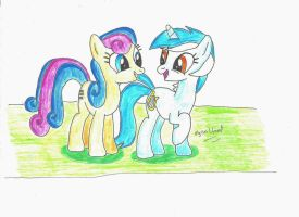 Lyra and Bon Bon - MLP by UlyssesGrant