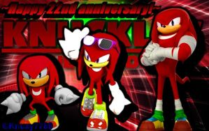 Happy 22nd Anniversary Knuckles! by Knuxy7789