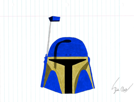 Derek Skirata helmet colored by FirebirdPhoenix87
