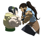 Beffing out: Toph VS Korra by astaroth90