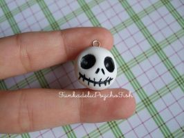 Jack Skellington Head Charm 1 by FunkadelicPsychoFish