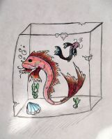 Koi Frozen in Time by Reptile64