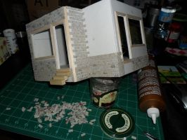 Les Shoppes Dollhouse Project: WIP 7 by kayanah