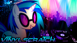 Vinyl Scratch Party Night by ryuuichi-shasame