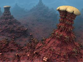 Martian Mushrooms by AureliusCat
