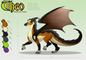 Theo Dragon Reference Sheet by WildTheory