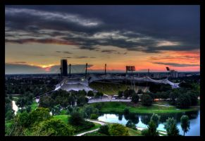 Olympiastadium in Munich by mutrus